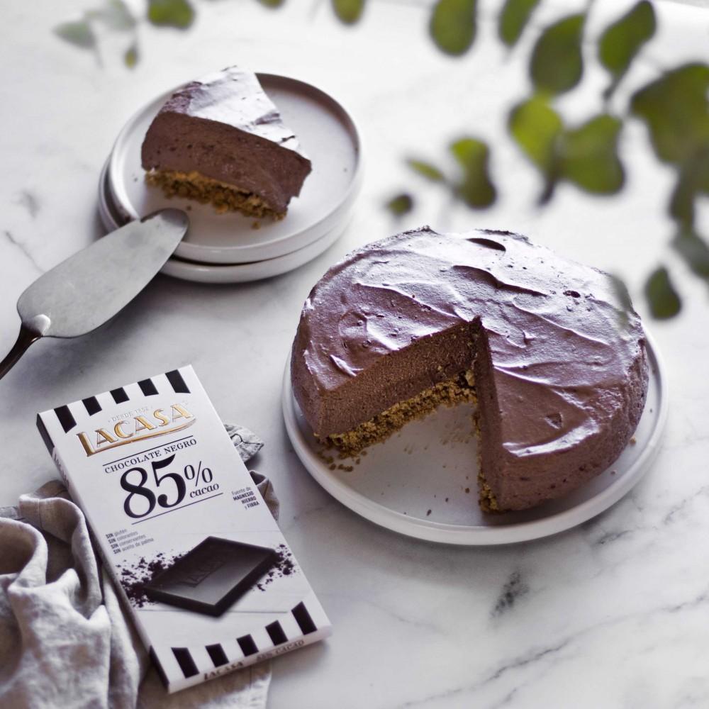 Tableta Chocolate 70% Cacao con Avellanas Enteras