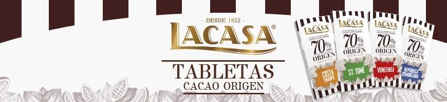 Tabletas Cacao Origen Lacasa
