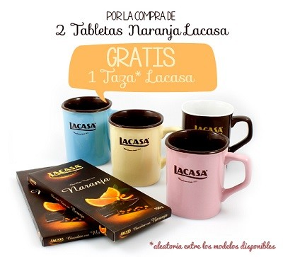 2 Tabletas de Naranja Lacasa + Taza Lacasa GRATIS
