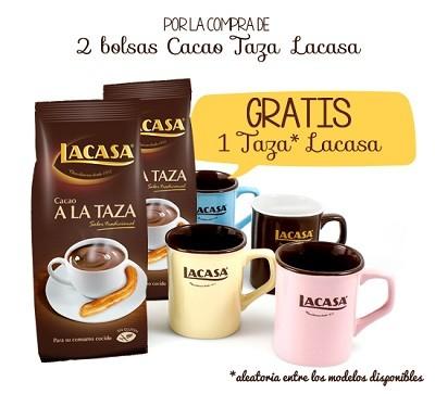 2 Bolsas de Cacao a la Taza Lacasa + Taza Lacasa GRATIS